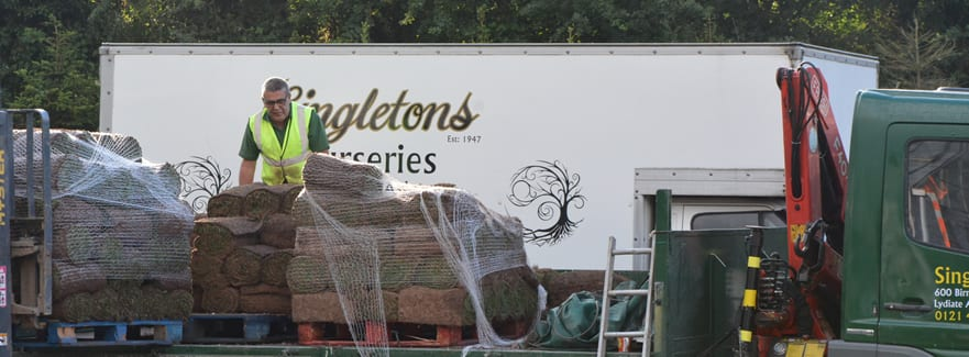 Deliveries from Singletons Nurseries