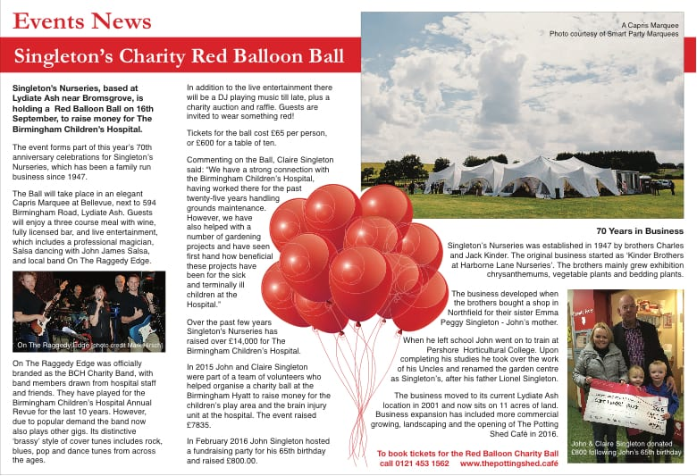 Red Balloon Charity Ball Editorial