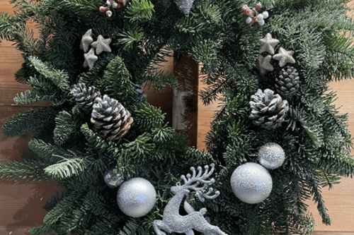 Large Silver Wreath